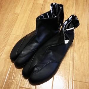 レザー地下足袋